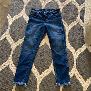 Joe's jeans- skinny ankle frayed bottoms. Size 27